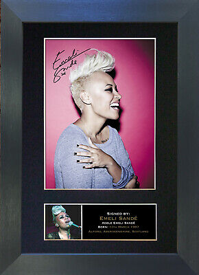 EMELI SANDE Signed Mounted Autograph Photo Prints A4 294