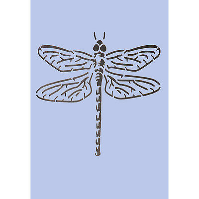 Dragonfly Stencil A3 Spray Paint Wall Glass Fabric Furniture Paint Crafting