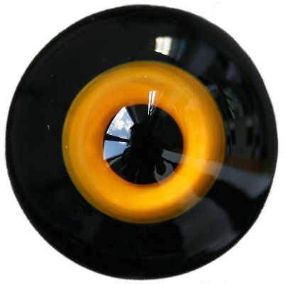 ]10mm  Glass Eyes Yellow & Black Pupil For BJD AOD DOD Doll Dollfie Outfit