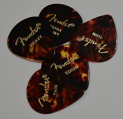 Fender Guitar Picks Jazz Shell  551 x 5 Picks Thin,Medium, Heavy or Extra Heavy