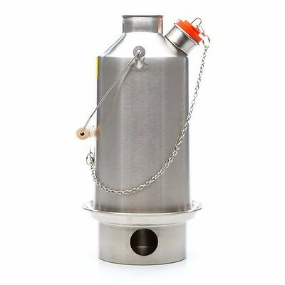Stainless Steel Base Camp (1.6L) Kelly Kettle, Kits or Accessories.Camping Stove