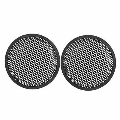 sourcingmap 6.6 inch Metal Mesh Round Car Woofer Cover Speaker Grill Black 2 Pcs