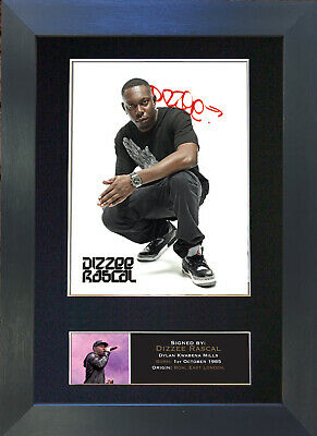 DIZZEE RASCAL Signed Mounted Autograph Photo Prints A4 395