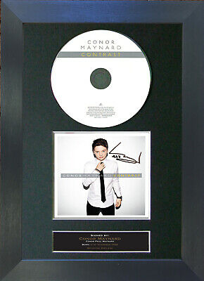 CONOR MAYNARD Contrast Album Signed CD Mounted Autograph Photo Prints A4 15