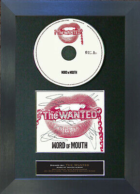 THE WANTED Word Of Mouth Album Signed CD Mounted Autograph Photo Prints A4 16