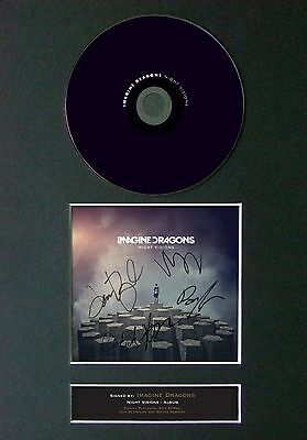 IMAGINE DRAGONS Night Visions Signed CD Mounted Autograph Photo Prints A4 19