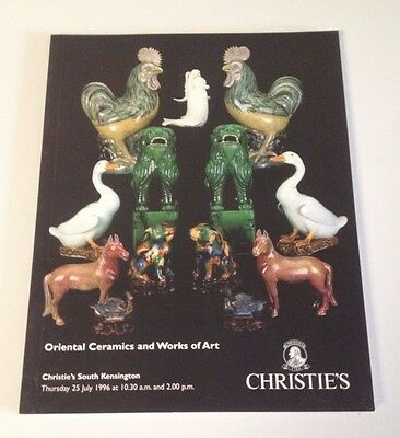 Christie's 1996 Auction Catalog Oriental Ceramics and Works of ART