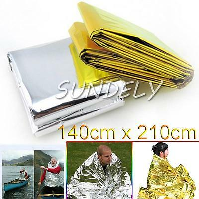 10X Foil Space Blanket Emergency Survival Blanket Thermal Rescue First Aid