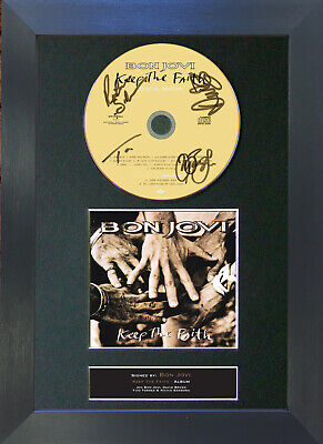 BON JOVI Keep The Faith Album Signed CD Mounted Autograph Photo Prints A4 43