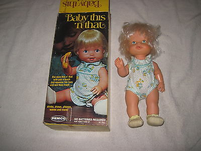 """Vintage Baby This N"""" That Remco with Original Box & Doll"""
