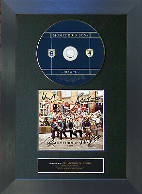 MUMFORD & SONS Babel Album Signed CD Mounted Autograph Photo Prints A4 52
