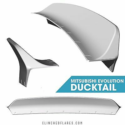 Clinched ducktail  trunk spoiler for Mitsubushi Evolution 7,8,9