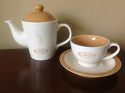 Tim Hortons Limited Edition Always Fresh Tea Pot, Cup And Saucer Coffee