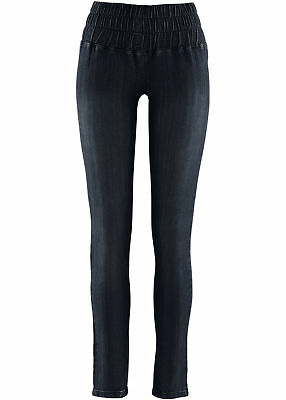 Jeansleggings Gr. 36 Dunkelblau Damen-Leggings Jeggings Stretch-Hose Neu