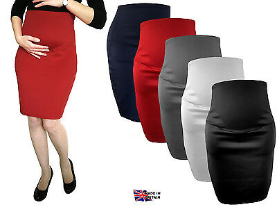 Maternity Skirt Over Bump Pregnancy Clothes Pencil Skirt