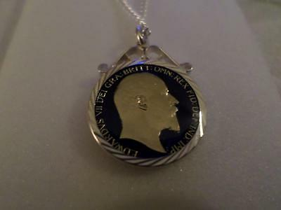 Vintage Enamelled Farthing Coin 1903 Pendant & Necklace. Christmas Birthday Gift