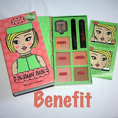 BENEFIT Blushin' Babe Blush Palette / Hoola Sugarbomb They're Real Coralista NEW