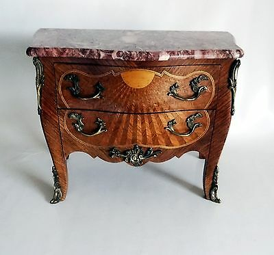 French Antique Small Scaled Marquetry Boulle –Style Commode -1820's