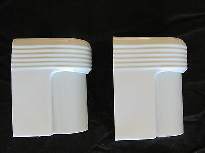 Awesome Antique ART DECO Slip Shade Bathroom Sconces - Professionally Rewired!