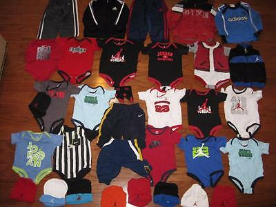 Huge Lot Air Jordan Baby Infant Outfits Beanies Hats Nike Pants 0-3 3-6 6-9 9-12