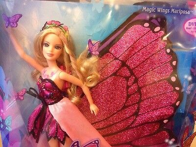 Mattel Barbie Magic Wings Mariposa Doll Butterfly Fairy Princess NRFB New