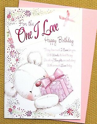 One I Love Birthday Card Someone Special Partner CardWith Loving Verse