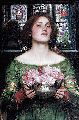 Large 12x18 Waterhouse Circe Offering Cup Painting Real Canvas Art Print