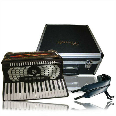 Rossetti Black Piano Accordion 34 Keys 60 Bass Makes a Great Father's Gift!!