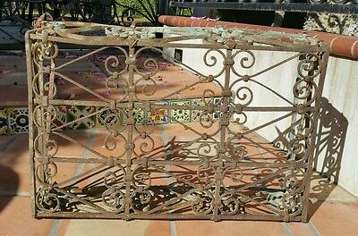 Vintage Antique Window Guard Cage Style  Wrought Iron Fence Gate