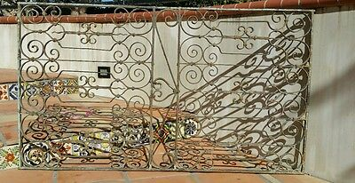 Vintage Antique Window Guard Wrought Iron Fence Gate