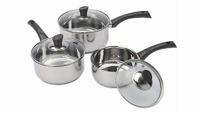 Wiltshire Soho 3 Piece Stainless Steel Cookware Set with Durable Resin Handles