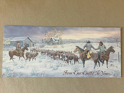 Western Themed Christmas Card & Decorative Envelope By Leanin' Tree~9
