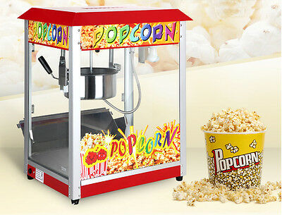 Promotion 110v Popcorn Machine Popper Bar Style Commercial Kitchen Brand New