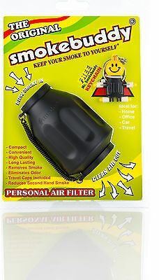 Smoke buddy Original Black Personal Air Cleaner Filter Purifier smokebuddy