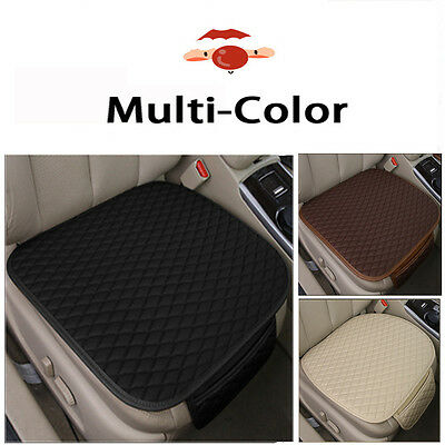 1PC NEW PU Leather Car Seat Cover Cushion Padded Car Front Seat Protector Pocket