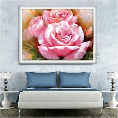 5D Charm Rose Flower Embroidery Diamond Painting Cross Stitch Home Decor Craft