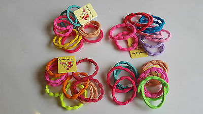 10 Random Thick Endless Snag Free Hair Elastic Bobbles Bands Ponios Plats Girls