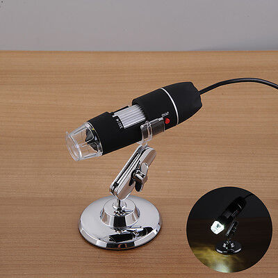 Portable USB Digital Microscope Loupe Camera Magnifier With 8 LED 500× 1000×