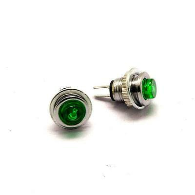 5pcs Small round button switch 8mm Self-resetting DS-101 Green LED lights 1A125V
