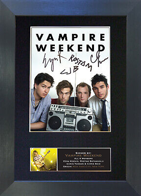 VAMPIRE WEEKEND Signed Mounted Autograph Photo Prints A4 369