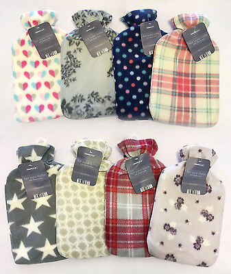 Cosy Hot Water Bottle with Fleece Cover Assorted Designs Country Club