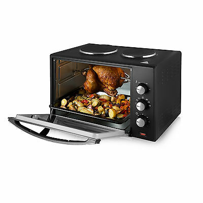 Tower T14014 42Ltr Mini Oven and Hotplates with Rotisserie - NEW -3yrs Guarantee