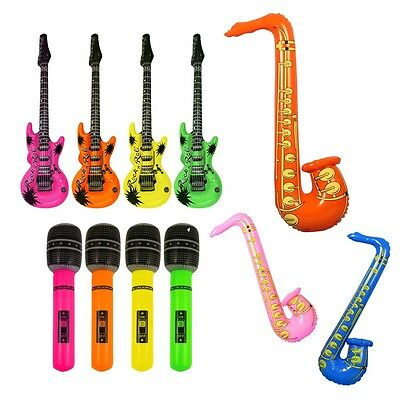 Cute Kids Inflatable Blow Up Rock Music Instrument Toy Costume Props