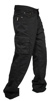 Mens Public Enemy® Cargo Motorcycle Jeans With Protective Lining + Ce Armour