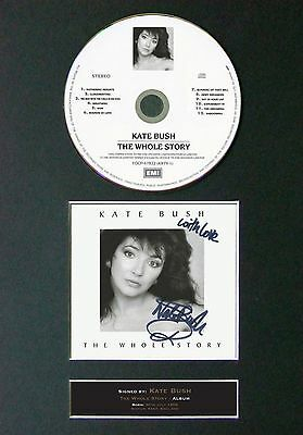 KATE BUSH The Whole Story Album Signed CD Mounted Autograph Photo Prints A4 56