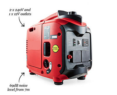 Compact 2000w Suitcase Invertor Petrol Generator Silent 2.86HP