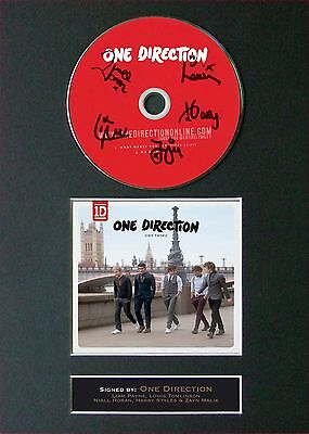 ONE DIRECTION One Thing Signed CD Mounted Autograph Photo Prints A4 24