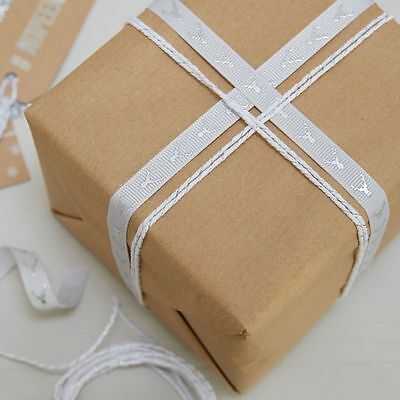 Silver Stag Ribbon & Twine - Christmas Gift Wrapping Kit