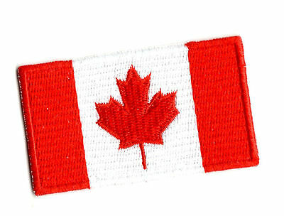 CANADA FLAG IRON ON / SEW ON PATCH Embroidered Badge CANADIAN WORLD MAP PT68