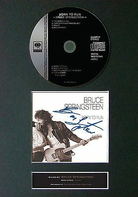 BRUCE SPRINGSTEEN Born To Run Signed CD Mounted Autograph Photo Prints A4 42